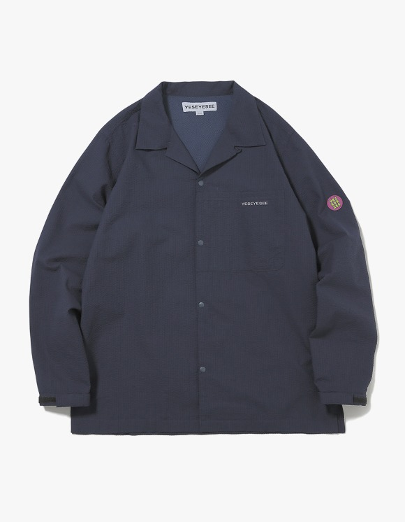 yeseyesee Seersucker Shirts - Navy | HEIGHTS. | International Store