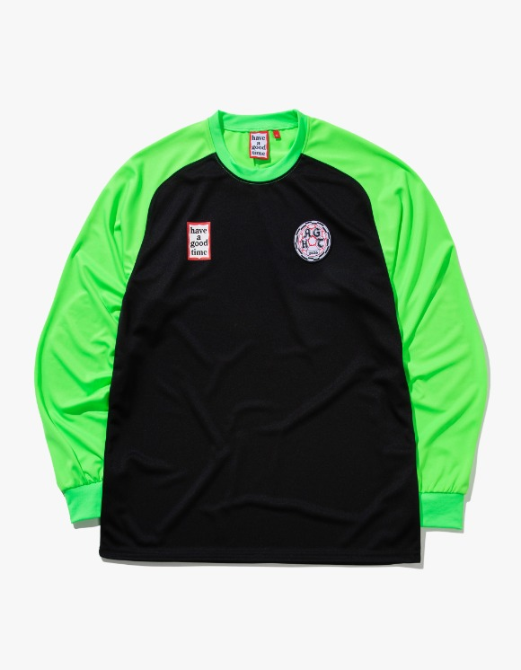 have a good time Hagt Soccer L/S Jersey - Black/Neon Green | HEIGHTS. | International Store