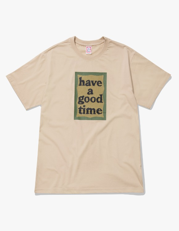 have a good time Military Frame S/S Tee - Military Beige | HEIGHTS. | International Store