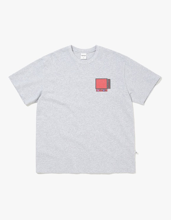 thisisneverthat Overlapped S.W. Tee - Grey | HEIGHTS. | International Store