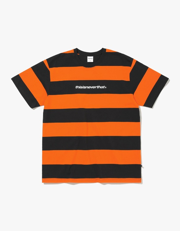 thisisneverthat SP-Logo Striped Tee - Black/Orange | HEIGHTS. | International Store