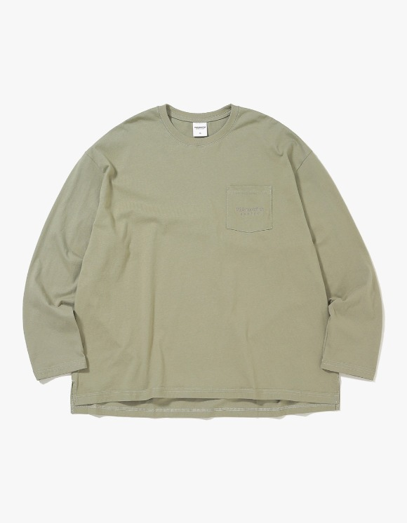 thisisneverthat L-Logo L/SL Top - Light Olive | HEIGHTS. | International Store