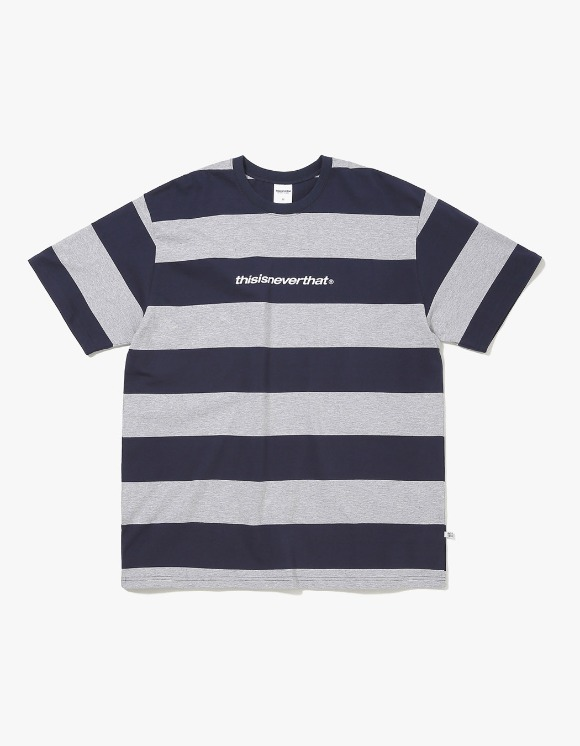 thisisneverthat SP-Logo Striped Tee - Navy/Grey | HEIGHTS. | International Store