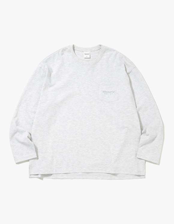thisisneverthat L-Logo L/SL Top - Light Grey | HEIGHTS. | International Store
