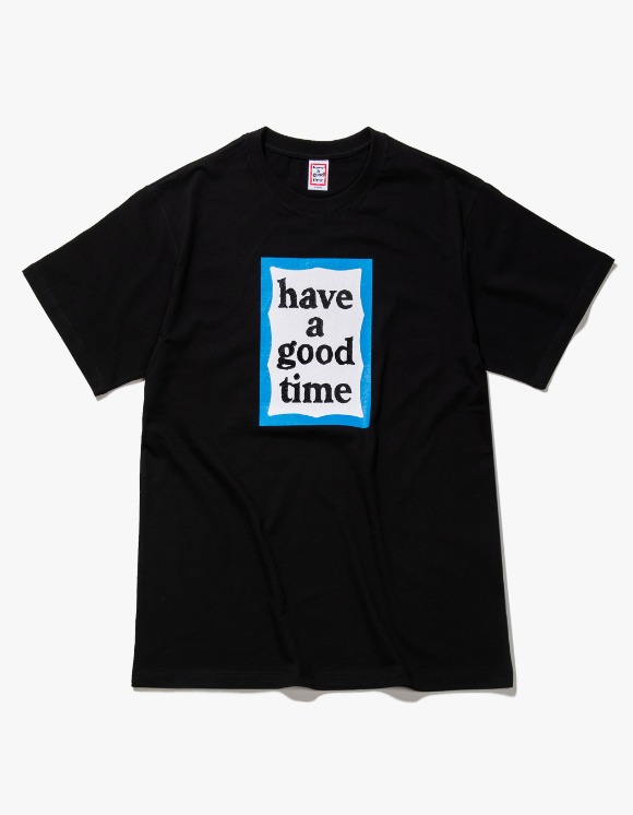 have a good time Blue Frame S/S Tee - Black | HEIGHTS. | International Store