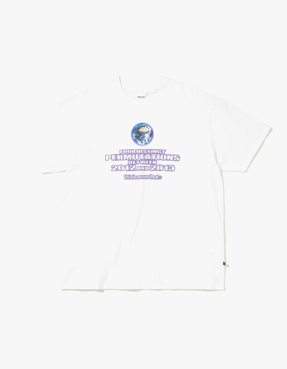 thisisneverthat Earth Tee - White | HEIGHTS. | International Store