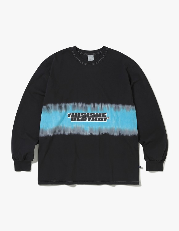 thisisneverthat Striped Tiedye L/SL Top - Black | HEIGHTS. | International Store