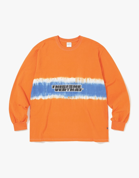 thisisneverthat Striped Tiedye L/SL Top - Orange | HEIGHTS. | International Store