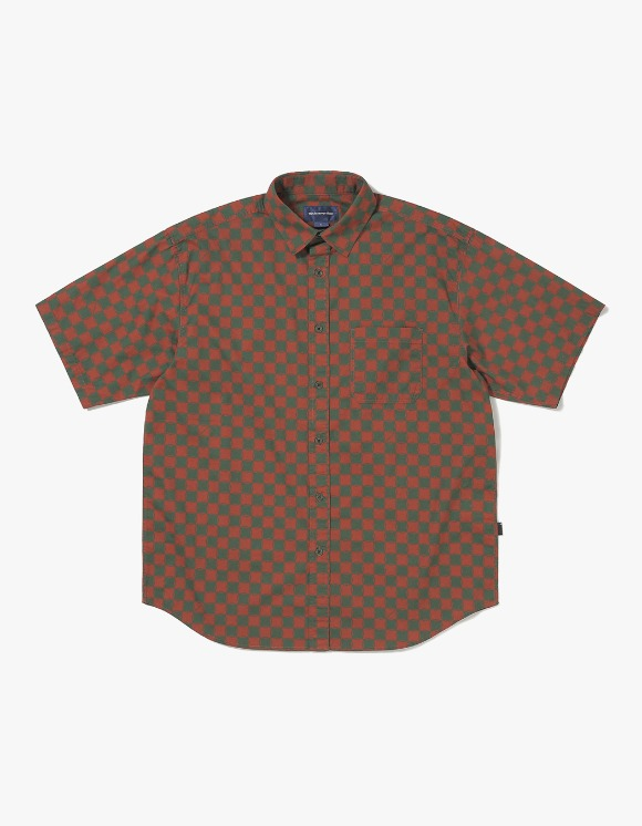 thisisneverthat CS Check S/S Shirt - Brown/Green | HEIGHTS. | International Store