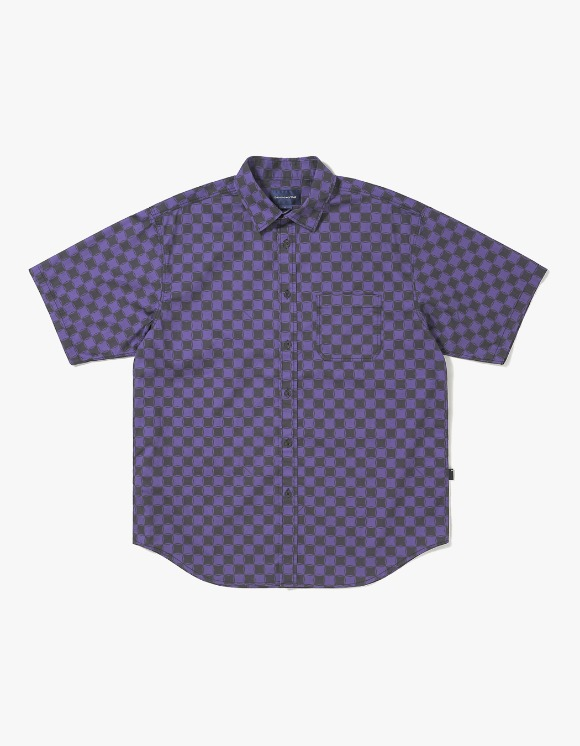 thisisneverthat CS Check S/S Shirt - Black/Purple | HEIGHTS. | International Store
