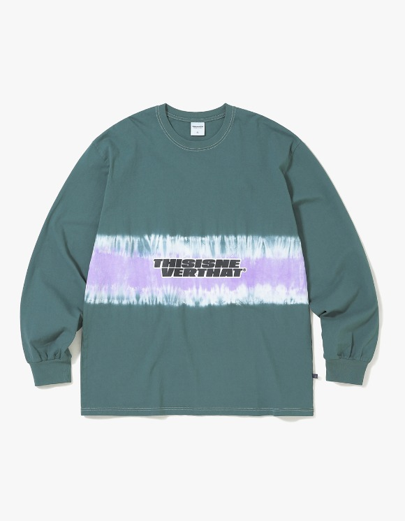 thisisneverthat Striped Tiedye L/SL Top - Green | HEIGHTS. | International Store
