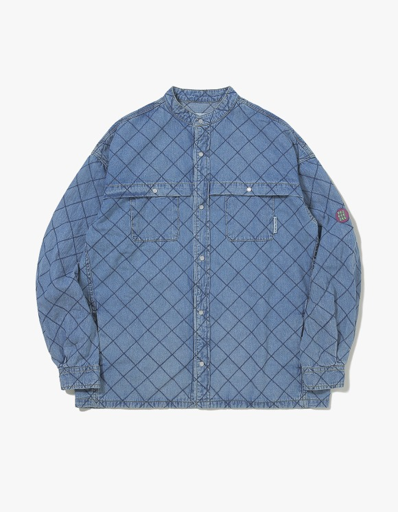 yeseyesee Net Denim Shirts - Blue | HEIGHTS. | International Store