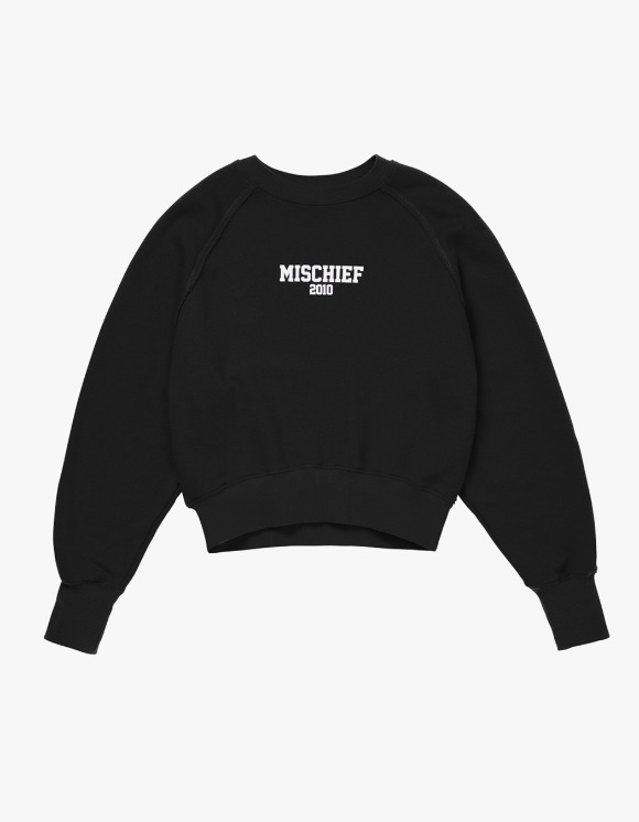 MISCHIEF MSCHF 2010 Cropped Crewneck - Black | HEIGHTS. | International Store