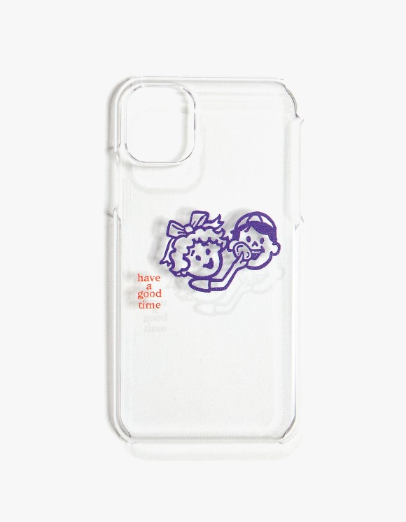 have a good time Enjoy Logo iPhone Case 11 - Clear | HEIGHTS. | International Store