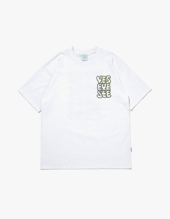 yeseyesee Y.E.S Neon Tee - White | HEIGHTS. | International Store