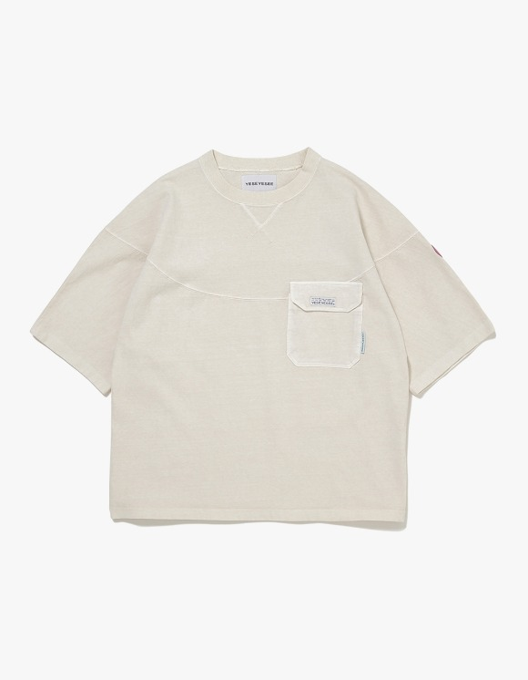 yeseyesee Wide 3 Panel Tee - Ivory | HEIGHTS. | International Store
