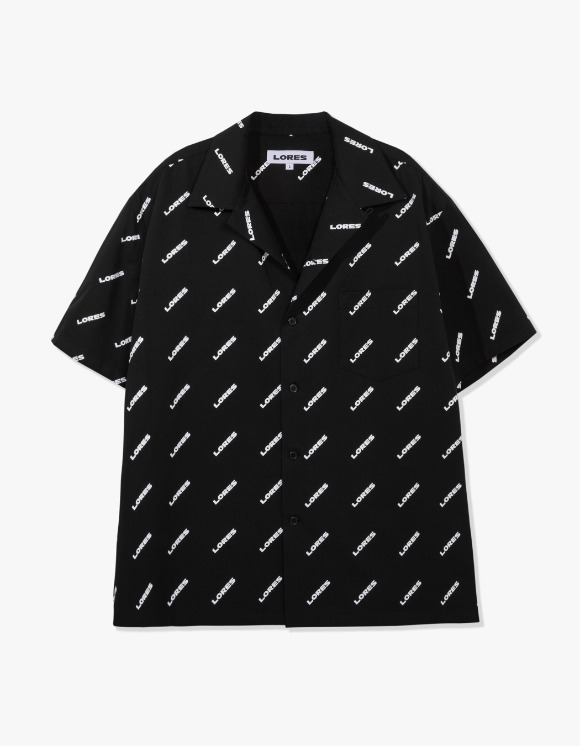 LORES Logo Pattern Shirts - Black | HEIGHTS. | International Store