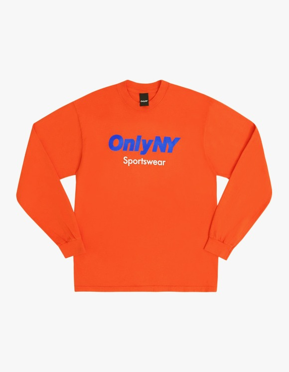 Only NY Sportswear Logo L/S Tee - Orange | HEIGHTS. | International Store