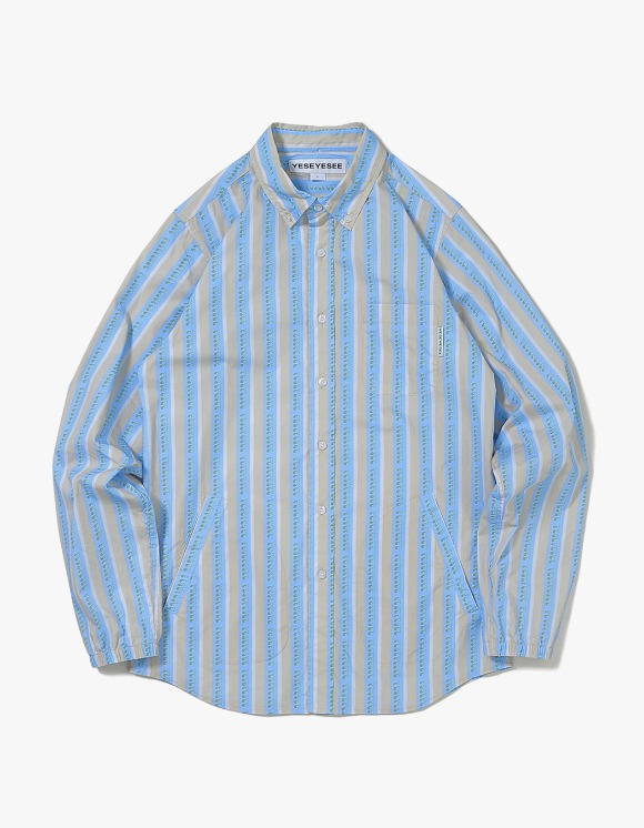 yeseyesee Logo Stripe Shirts - Beige | HEIGHTS. | International Store