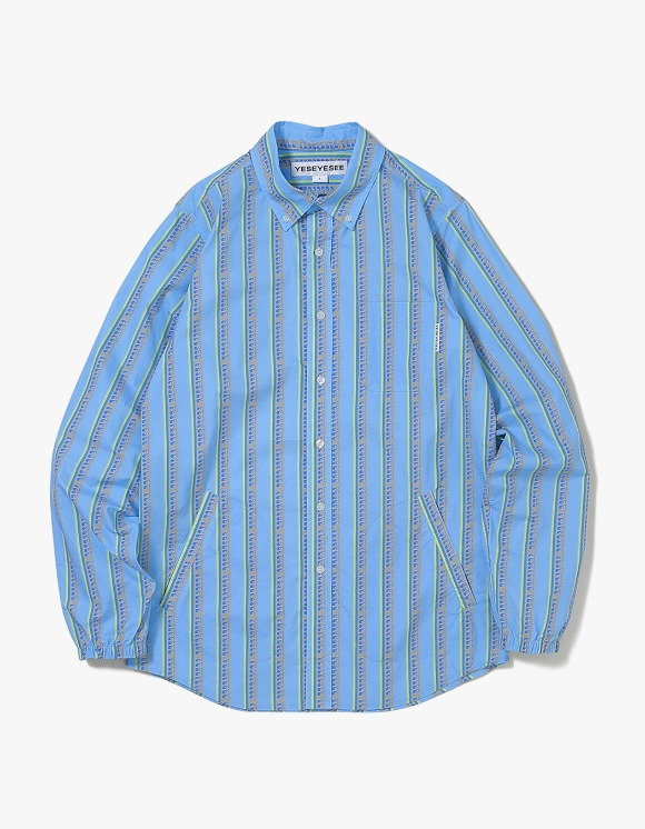 yeseyesee Logo Stripe Shirts - Mint | HEIGHTS. | International Store