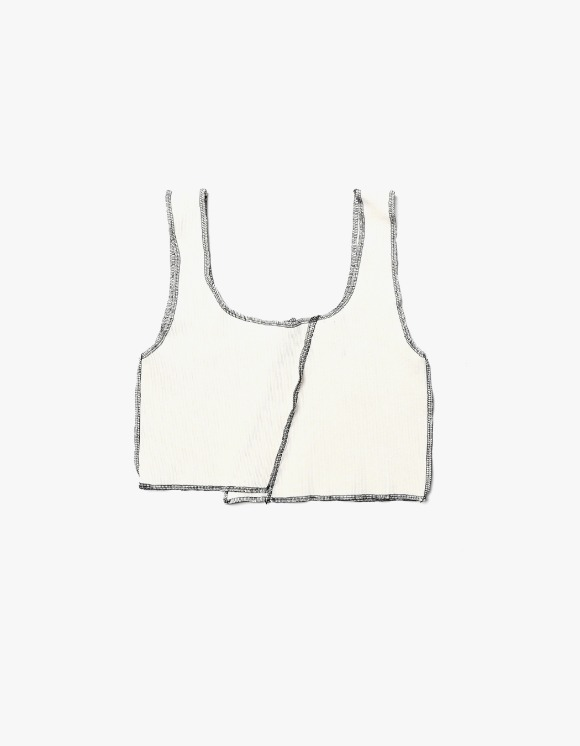 s/e/o Overlock Tank Top - Ivory | HEIGHTS. | International Store