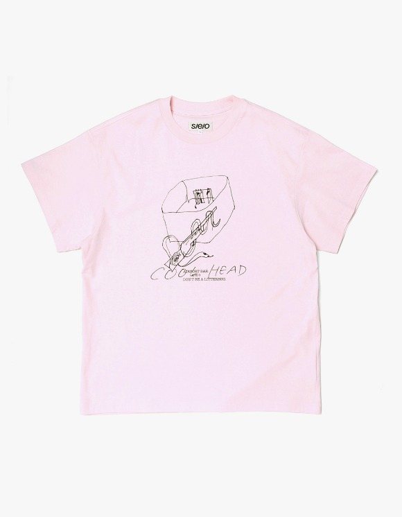 s/e/o Cool Head Tee - Pink | HEIGHTS. | International Store