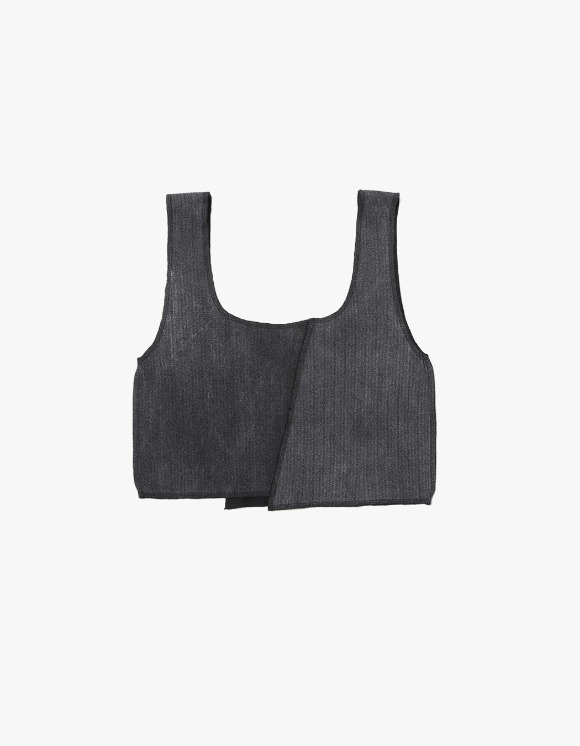 s/e/o Overlock Tank Top - Charcoal | HEIGHTS. | International Store