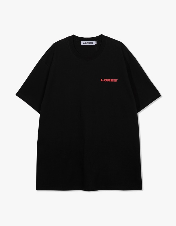 LORES Logo S/S Tee - Black | HEIGHTS. | International Store