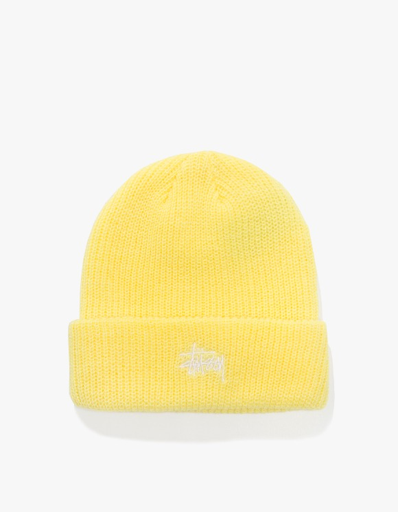 Stussy Basic Cuff Beanie - Yellow | HEIGHTS. | International Store