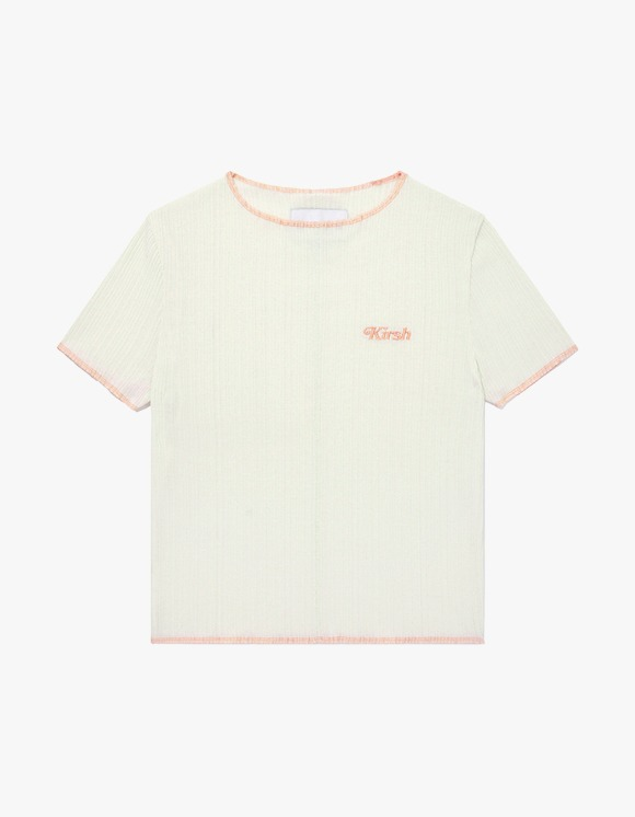 KIRSH KIRSH COLOR STITCH T-SHIRT JH - Ivory | HEIGHTS. | International Store