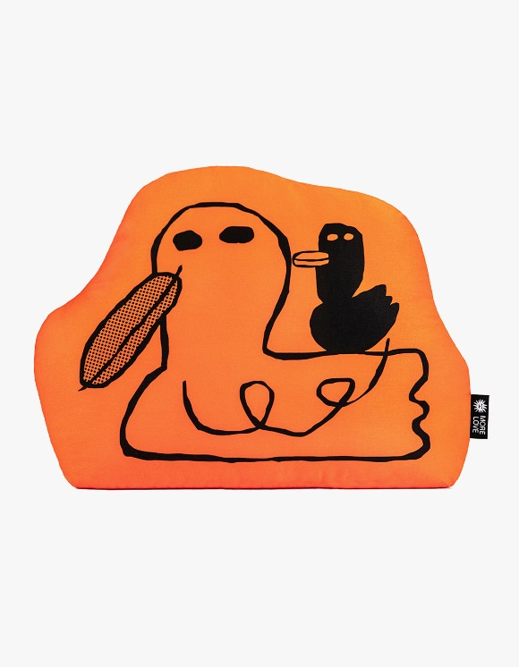 Balansa X More Love By Kentaro Duck Cushion - Orange | HEIGHTS. | International Store