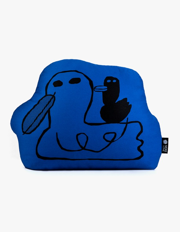 Balansa X More Love By Kentaro Duck Cushion - Blue | HEIGHTS. | International Store
