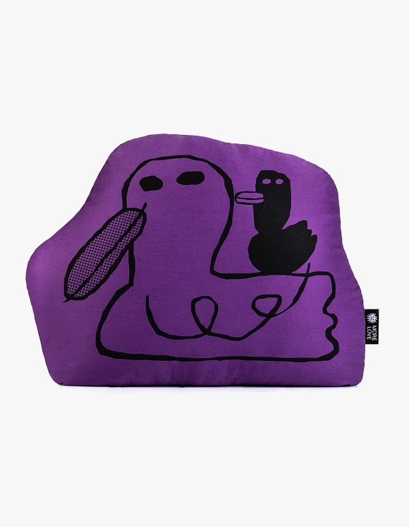 Balansa X More Love By Kentaro Duck Cushion - Purple | HEIGHTS. | International Store