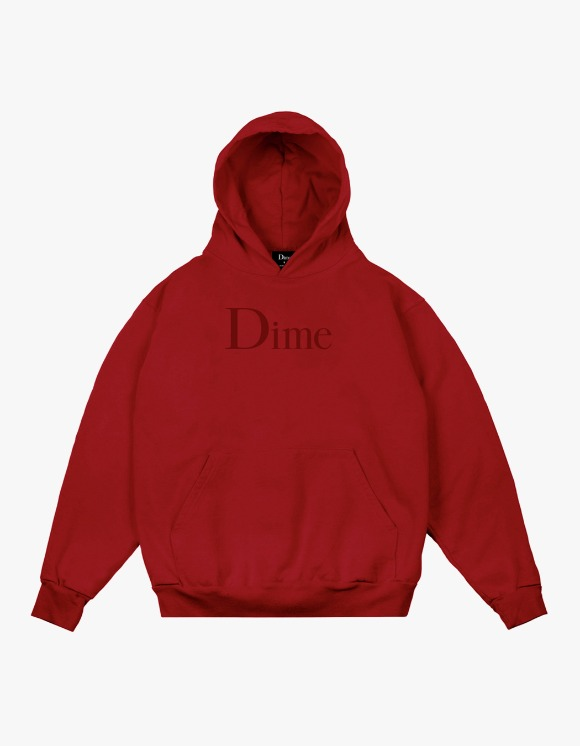 Dime Dime Classic Logo Hoodie - Red | HEIGHTS. | International Store