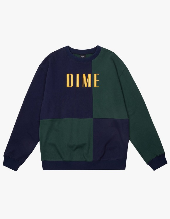 Dime Dime Block Terry Crewneck - Navy | HEIGHTS. | International Store