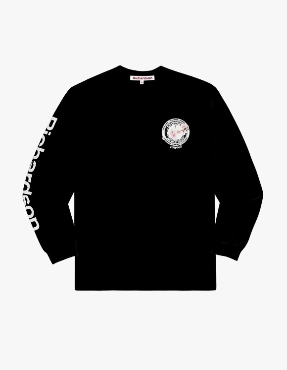 Richardson Cherry Blossom Teamster L/S Tee - Black | HEIGHTS. | International Store