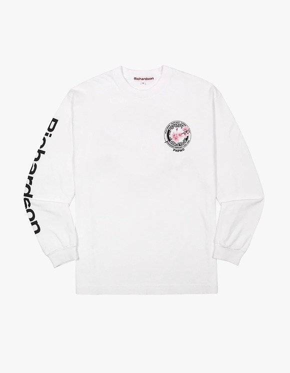 Richardson Cherry Blossom Teamster L/S Tee - White | HEIGHTS. | International Store