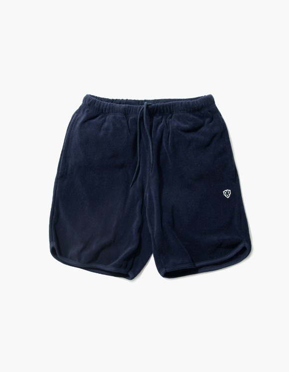 Heritage Floss HFC Crest Towel Shorts - Navy | HEIGHTS. | International Store