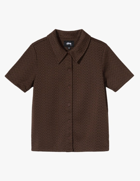 Stussy Tonal Jacquard Poly Knit - Brown | HEIGHTS. | International Store