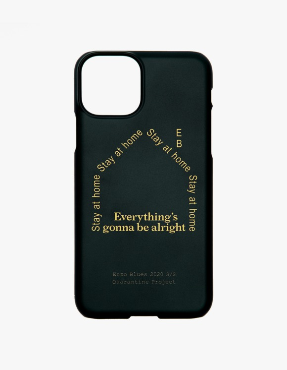 Enzo Blues Quarantine Logo Phone Case - Black | HEIGHTS. | International Store
