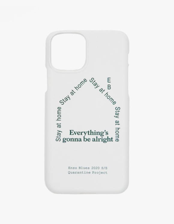 Enzo Blues Quarantine Logo Phone Case - White | HEIGHTS. | International Store