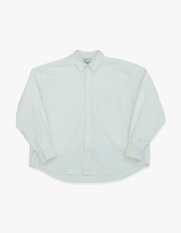 Enzo Blues Oversize Heavy Oxford Shirt Jacket - Off White | HEIGHTS. | International Store