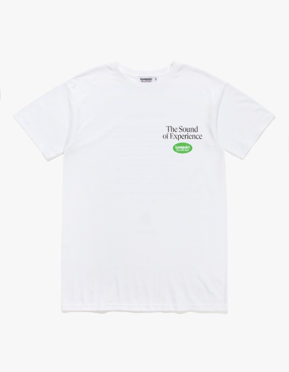 "Kompakt Record Bar KRB x Heights ""Jeyon's playlist"" Tee - White 