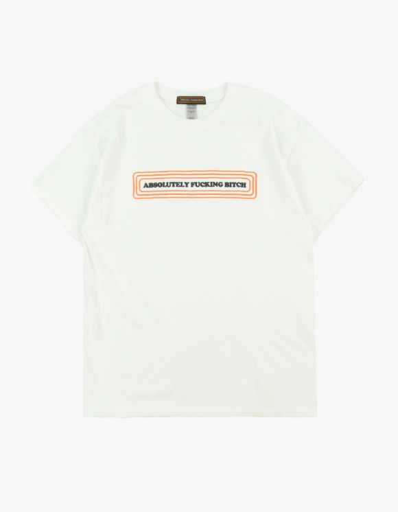 Absolutely Fucking Bitch Tag Tee - White | HEIGHTS. | International Store