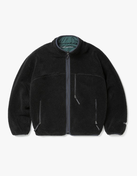thisisneverthat Reversible Boa Fleece Jacket - Black | HEIGHTS. | International Store