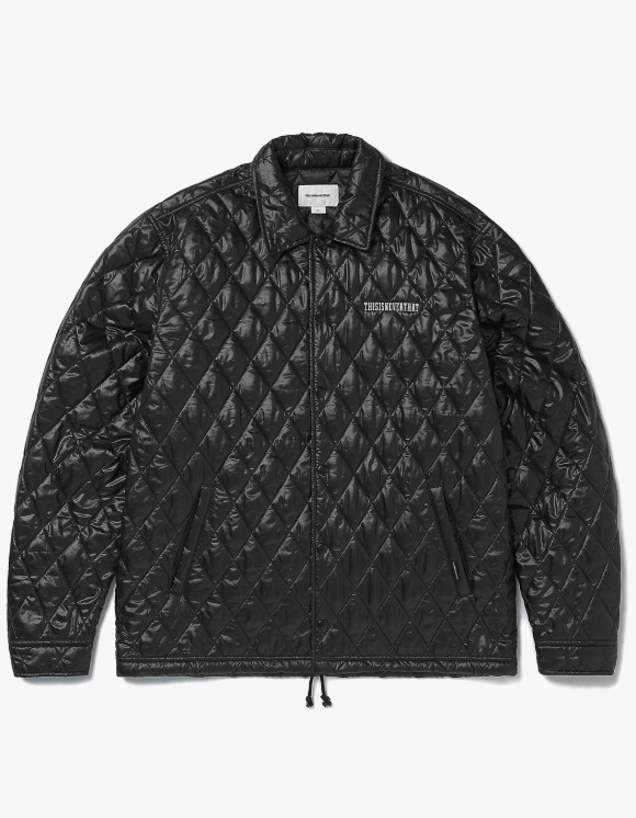 thisisneverthat Quilted Coach Jacket - Black | HEIGHTS. | International Store