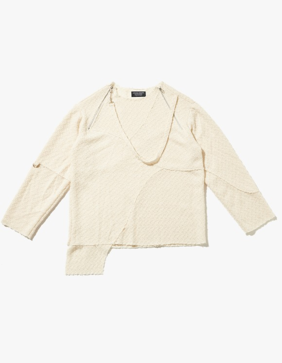 JOEGUSH Unbalanced Lining Knit - Ivory | HEIGHTS. | International Store