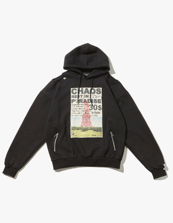 JOEGUSH Patched & Inside Out Hoodie - Black | HEIGHTS. | International Store