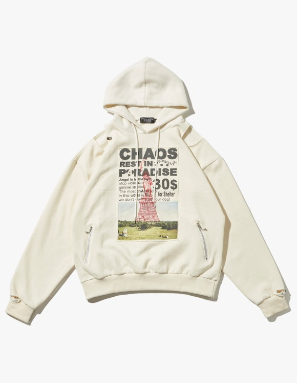 JOEGUSH Patched & Inside Out Hoodie - Ivory | HEIGHTS. | International Store