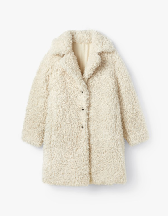 s/e/o Curly Faux Fur Coat - Light Beige | HEIGHTS. | International Store